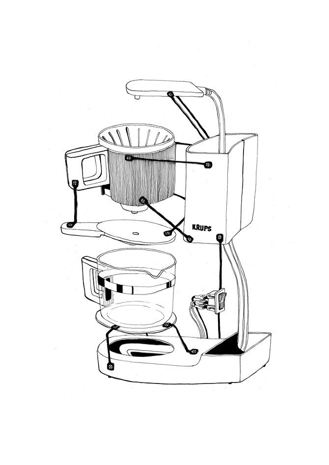Coffee Maker Exploded : Exploded rituals Process - Ricardo Carneiro
