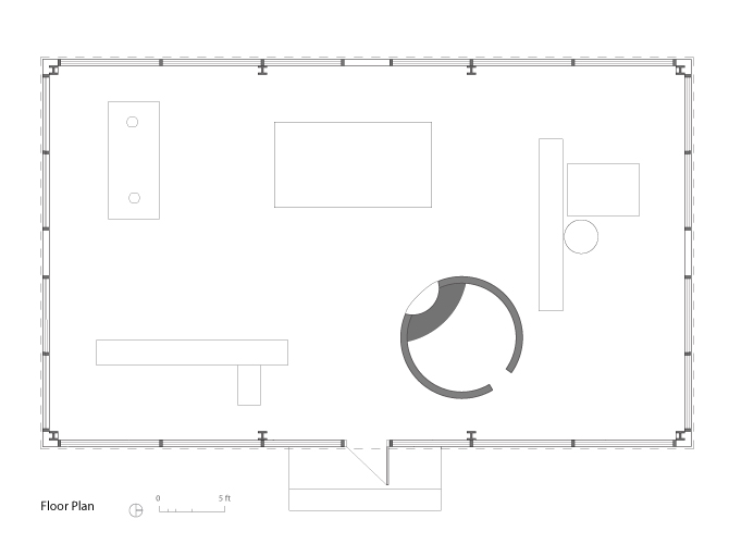 Philip johnson glass house plans and sections escortsea for Glass house floor plans